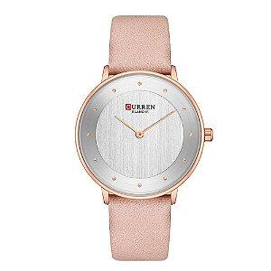 Relógio Feminino Curren Analógico C9033L - Dourado e Rosa