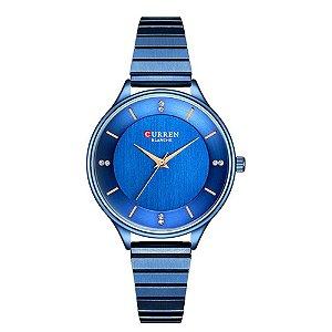 Relógio Feminino Curren Analógico C9041L - Azul