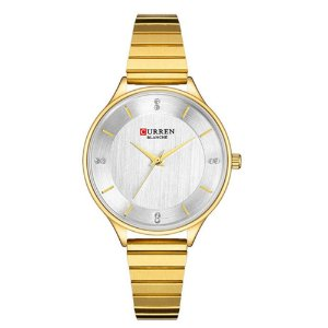 Relógio Feminino Curren Analógico C9041L - Dourado