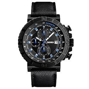 Relógio Masculino Skmei Analógico 1350 - Preto e Azul