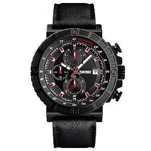 Relógio Masculino Skmei Analógico 1350 - Preto e Vermelho