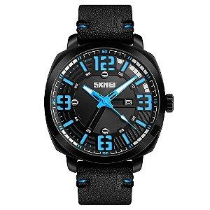 Relógio Masculino Skmei Analógico 1351 - Preto e Azul