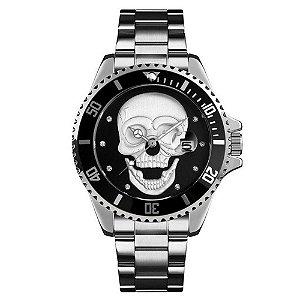 Relógio Masculino Skmei Analógico 9195 - Prata e Preto