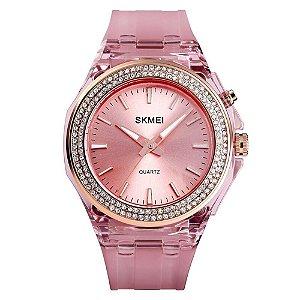 Relógio Feminino Skmei Analógico 1553 - Rosa