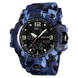 Relógio Masculino Skmei AnaDigi 1155B - Azul e Camuflado