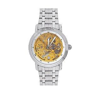 Relógio Automático Masculino Ouyawei Analógico 11821 - Prata e Dourado
