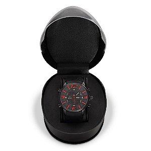 Relógio Masculino Weide AnaDigi WH-3402 - Preto e Vermelho