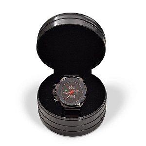 Relógio Masculino Weide Analógico WH-3305 - Preto e Vermelho