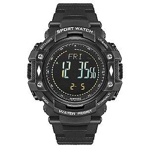 Relógio Pedômetro Masculino Weide Digital WA9J001 - Preto