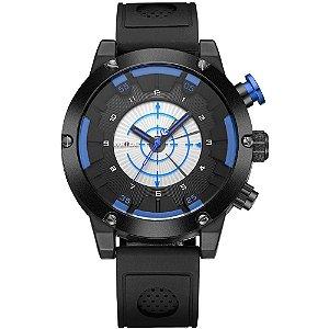Relógio Masculino Weide AnaDigi WH-6301 - Preto e Azul