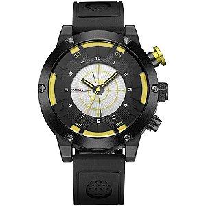 Relógio Masculino Weide Analógico WH-6301 - Preto e Amarelo