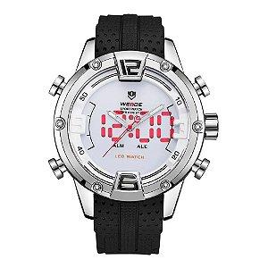 Relógio Masculino Weide AnaDigi WH-7301 - Prata e Branco