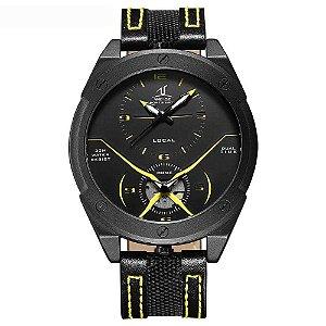 Relógio Masculino Weide Analógico UV-1703 - Preto e Amarelo