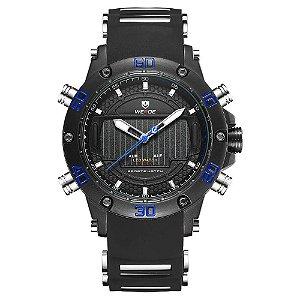 Relógio Masculino Weide AnaDigi WH-6910 - Preto e Azul