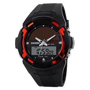 Relógio Masculino Skmei AnaDigi 1056 - Preto e Vermelho