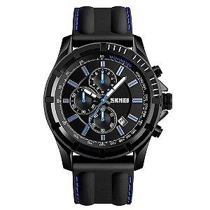 Relógio Masculino Skmei Analógico 1352 - Preto e Azul
