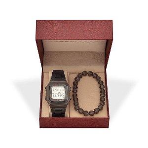 Kit Relógio Unissex Skmei Digital 1337 e Pulseira