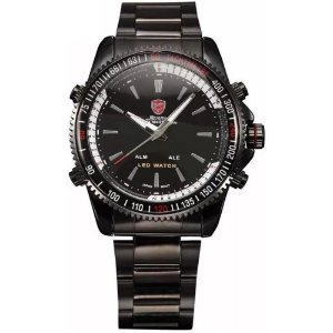 Relógio Masculino Shark AnaDigi DS001S - Preto e Branco