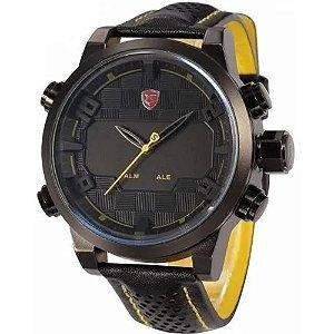 Relógio Masculino Shark AnaDigi DS019L - Preto e Amarelo