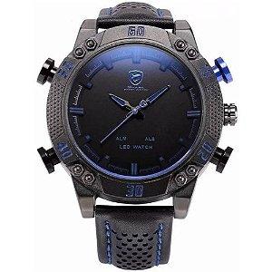 Relógio Masculino Shark AnaDigi DS019L - Preto e Azul