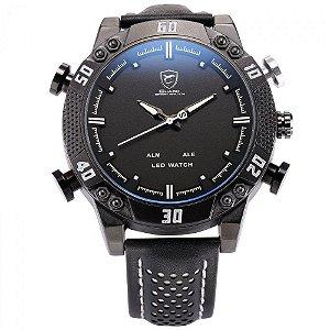 Relógio Masculino Shark AnaDigi DS019L - Preto e Branco