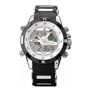 Relógio Masculino Shark AnaDigi DS006I - Preto e Branco
