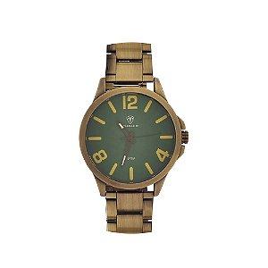 Relógio Masculino Tuguir Analógico TG100 - Bronze e Verde
