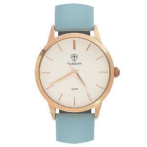 Relógio Feminino Tuguir Analógico TG106 - Rosê e Verde Água
