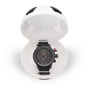 Relógio Masculino Weide Analógico WH7306 - Preto e Vermelho