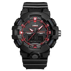 Relógio Masculino Weide AnaDigi WA3J8006 - Preto e Vermelho