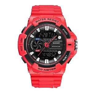 Relógio Masculino Weide AnaDigi WA3J8009 - Vermelho