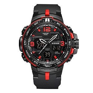 Relógio Masculino Weide AnaDigi WA3J8005 - Preto e Vermelho