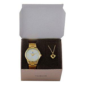 Kit Relógio Feminino Tuguir Analógico TG117 - Dourado com Brinde