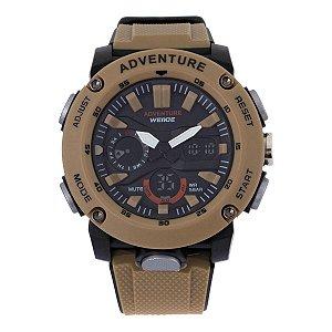 Relógio Masculino Weide AnaDigi WA3J9002 - Marrom e Preto