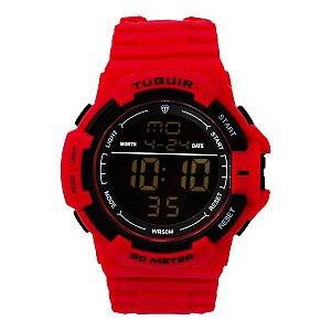 Relógio Masculino Tuguir Digital TG126 - Vermelho e Preto