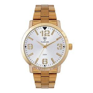 Relógio Masculino Tuguir Analógico TG122 - Dourado e Prata
