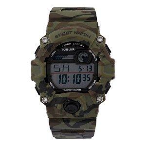Relógio Masculino Tuguir Digital TG130 - Verde Camuflado