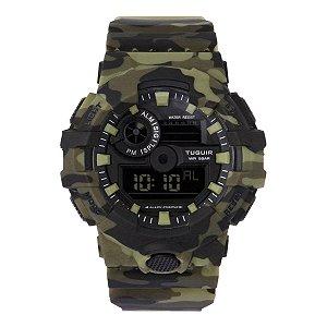 Relógio Masculino Tuguir Digital TG127 - Verde Camuflado
