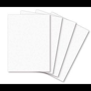 Papel cartolina Branca Escolar 50x66cm 140grs - Milenium