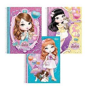 Caderno 10 matérias (capa dura) Jolie Pet 200 Folhas - Tilibra