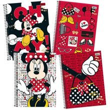Caderno 10 matérias (capa dura) Minnie 200 Folhas - Tilibra