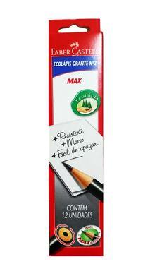 Lapis preto (redondo) Ecolapis 1205 Max N.2 CX. C/12- Faber-Castell