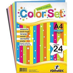 Bloco para educacao artistica Color Set Criativo A4 24f.120g - Romitec/Plastpark