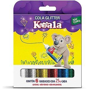 Cola com gliter Koala 6 Cores - Delta