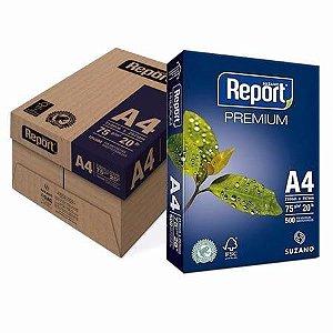 Papel Sulfite A4 Report Premium cx c/ 10 Resmas - Suzano