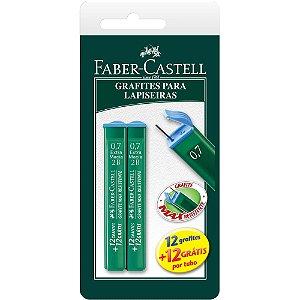 Grafite (0,7 mm) Hb 2 Tubos de 24 grafites - Faber-Castell