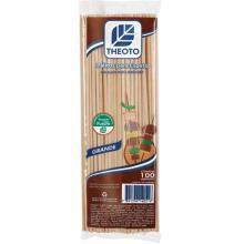 Palito (Espeto) de madeira 18cmx3mm C/100 - Theoto S/A