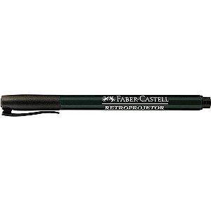 Caneta para retroprojetor (1,0 mm) Media Preta - Faber-Castell