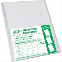 Envelope plástico Oficio S/Furo Médio 0,10mm - Acp