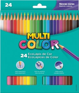 Lápis de cor (sextavado) Multicolor Super Eco 24cores - Faber-Castell